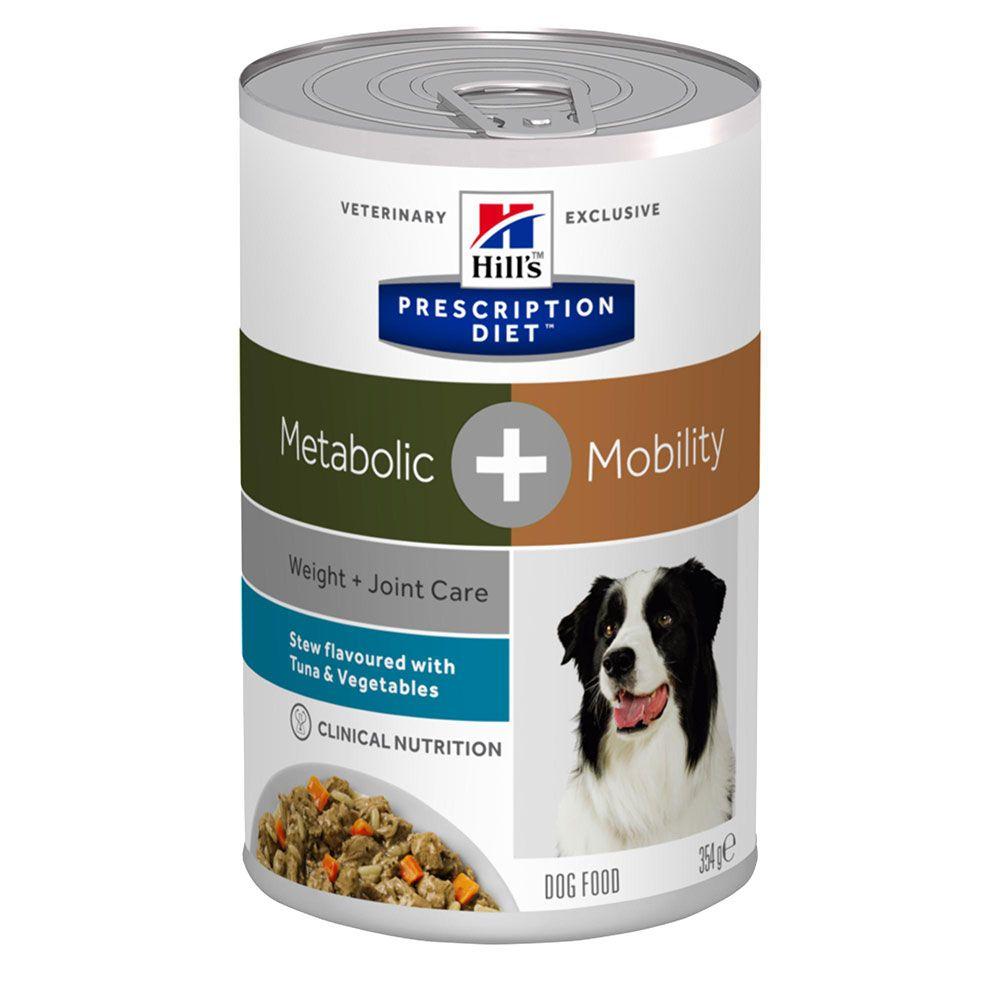 Hill's Prescription Diet Metabolic + Mobility Stew hundfoder med tonfisk - Ekonomipack: 48 x 354 g