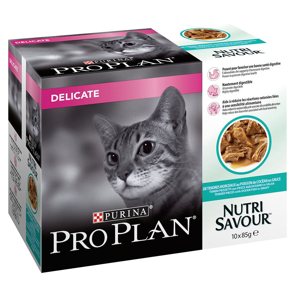 Ocean Fish in Sauce Delicate Nutrisavour Megapack Pro Plan Purina Wet Cat Food