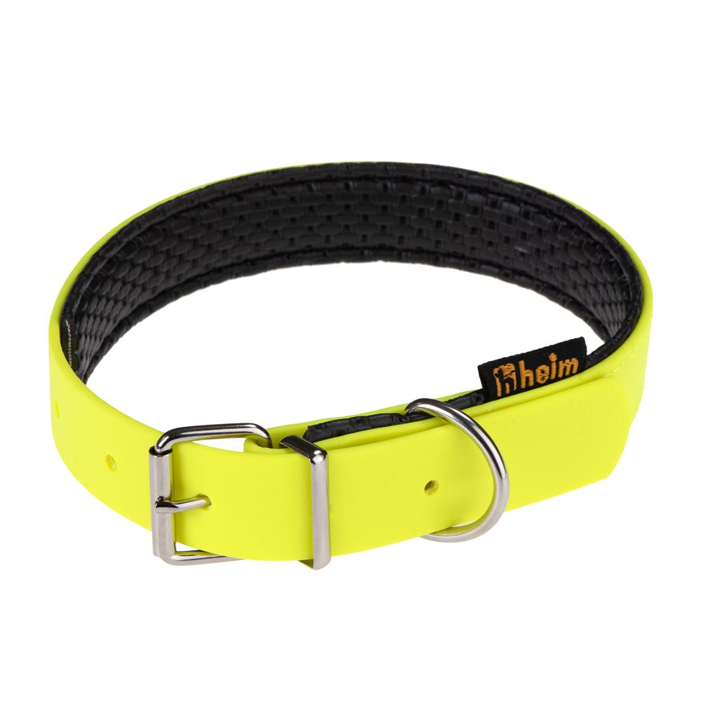 Heim BioThane® Collar - Fluorescent Yellow - Size 40cm