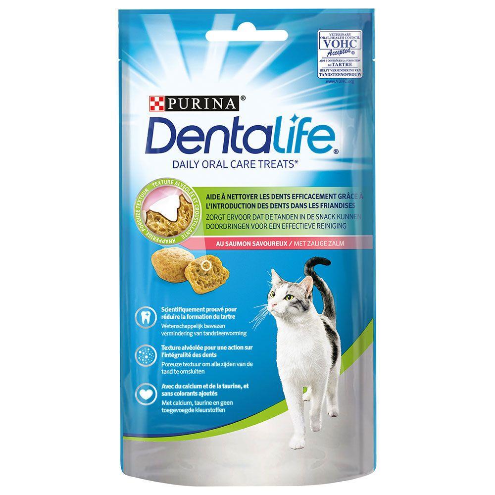 Purina Dentalife Cat Dental Snacks - Salmon - 8 x 40g