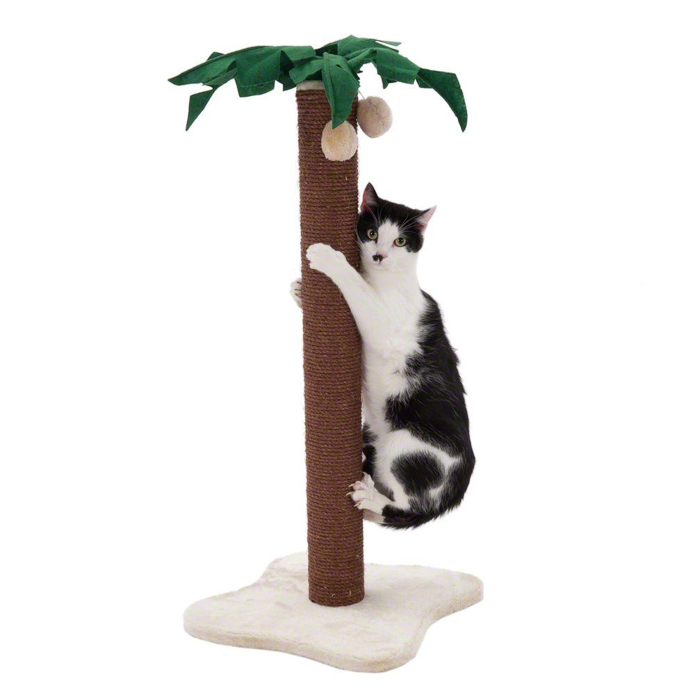 Coco Palm drapak - słupek dla kota - Dł. x szer. x wys.: 40 x 40 x 82