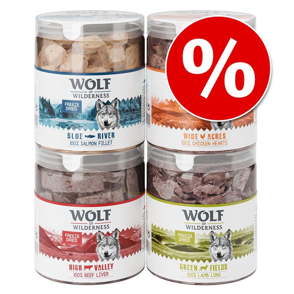 Korzystny pakiet Wolf of Wilderness - liofilizowane przysmaki premium - Wątroba wołowa (360 g)