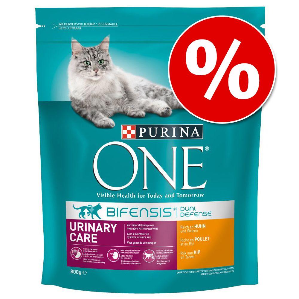Ekonomipack: 2, 3 eller 6 påsar Purina ONE kattfoder Dual Nature Kyckling - (4 x 1,4 kg)