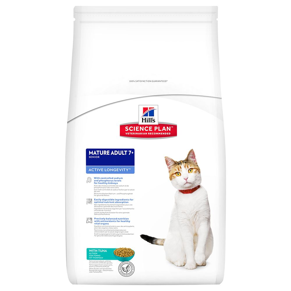 Image of Hill's Science Plan Feline Mature 7+ Active Longevity Tonno - 2 kg