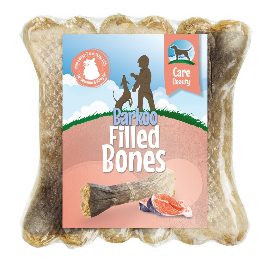 Salmon Beauty Barkoo Filled Chew Bone Dog Treat