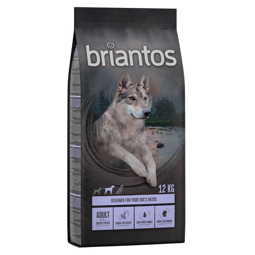 4x1kg Briantos Adult canard, pommes de terre SANS CEREALES - Croquettes pour chien
