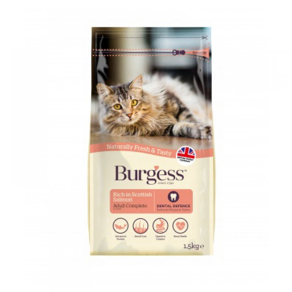Burgess Salmon Adult Dry Cat Food