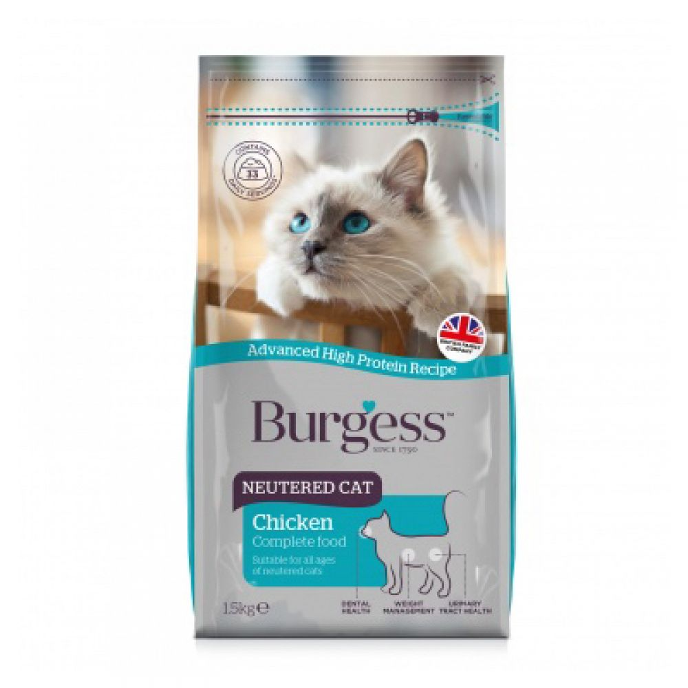 Burgess Neutered Cat Economy Pack 2 x 10kg