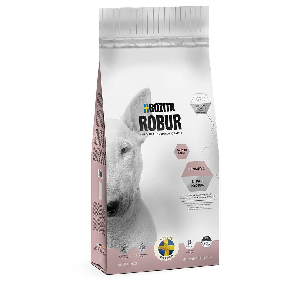 Bozita Robur Sensitive Single Protein Lax & ris - Ekonomipack: 2 x 12,5 kg