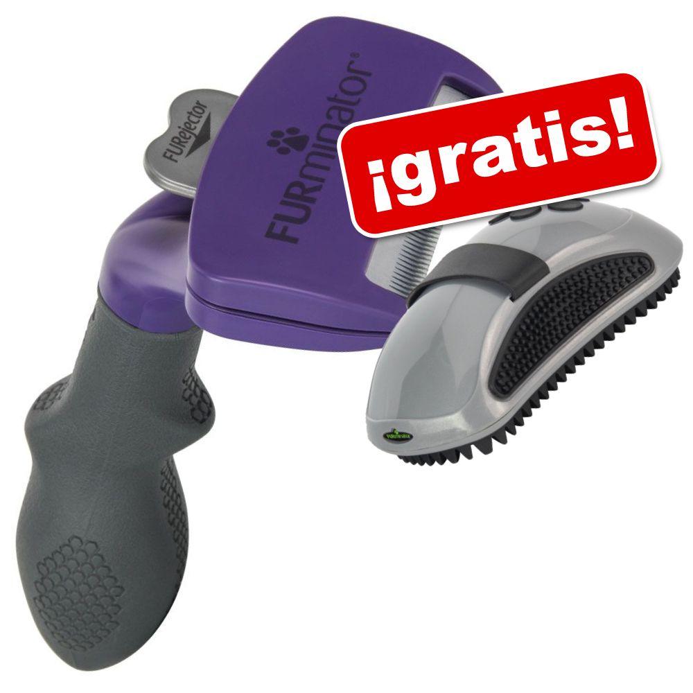 Cepillo FURminator deShedding para gatos + Almohaza ¡gratis! - Gatos pequeños/pelo largo