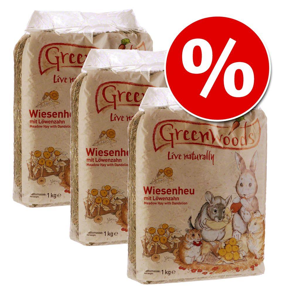 Ekonomipack: Greenwoods ängshö 3 / 10 kg – Vildäpplen 3 kg