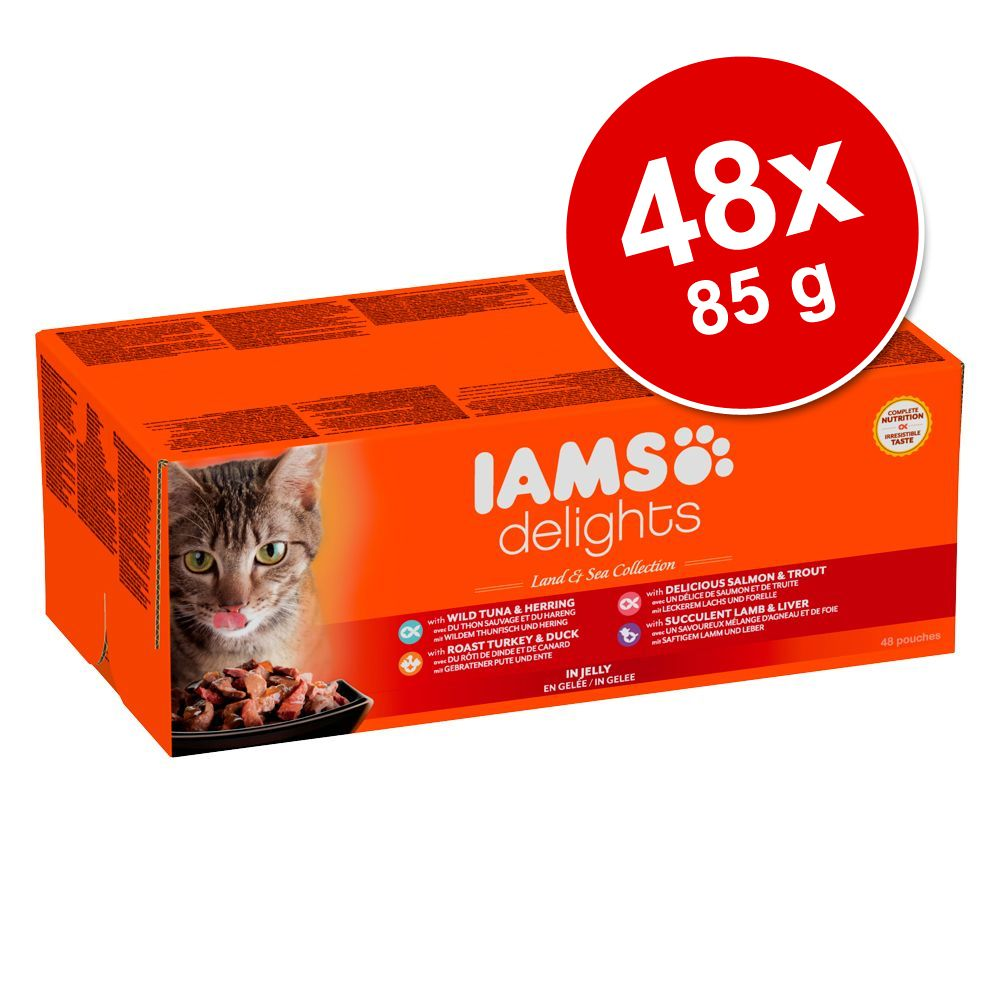 Foto IAMS Delights 48 x 85 g - Adult Mix di Terra in Gelee Set risparmio Iams