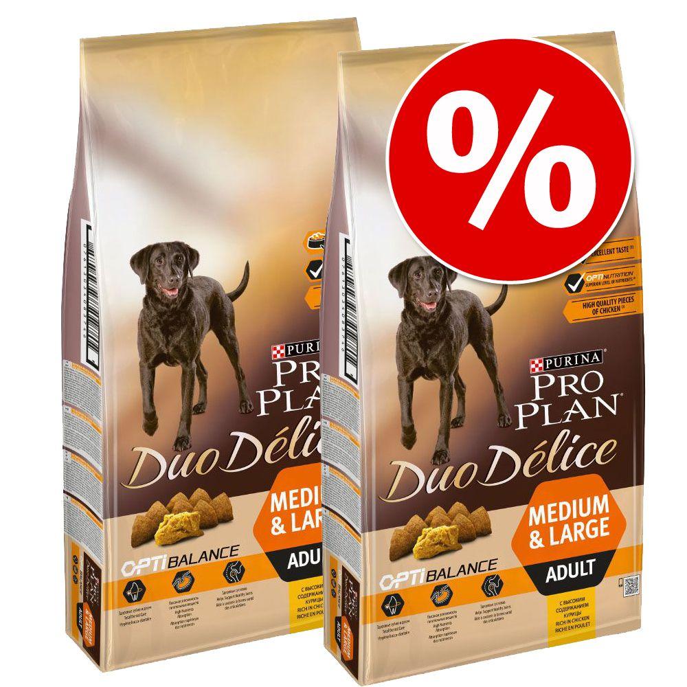 Ekonomipack: 2 eller 3 påsar Pro Plan Duo Délice - Beef with Rice (2 x 10 kg)