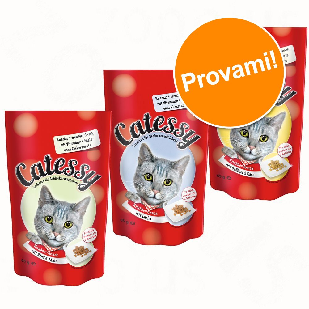Image of Set prova! 3 x 65 g Catessy Snack Croccanti - 3 gusti assortiti