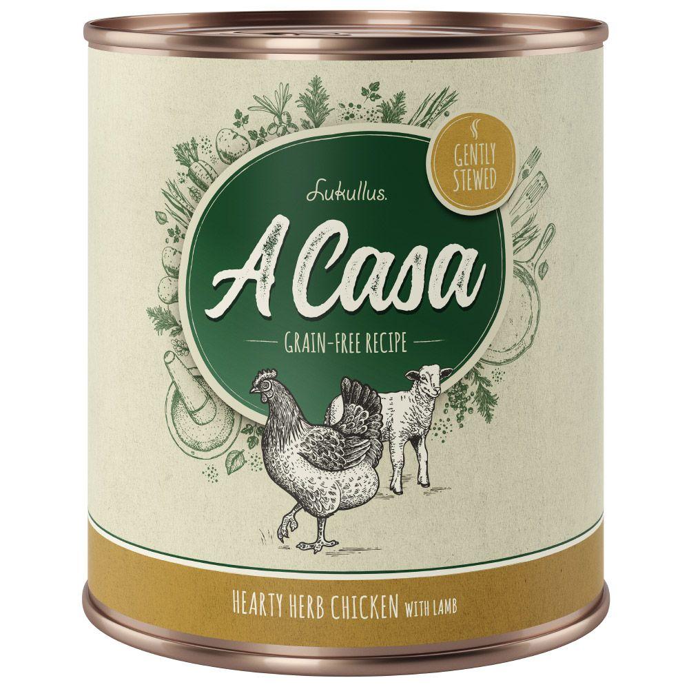 6x400g Chicken, Herb A Casa Lukullus Wet Dog Food