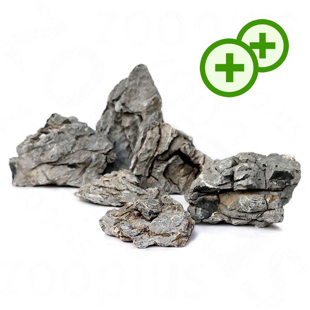 Foto Mini-paesaggio in pietra Seiryu - Set 100 cm, 10 pz AquaDeco Set pietra naturale