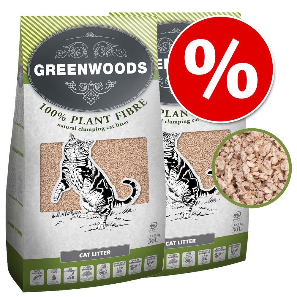 Greenwoods pesek varčna pakiranja - Plant Fibre 2 x 30 l  (pribl. 25,8 kg)