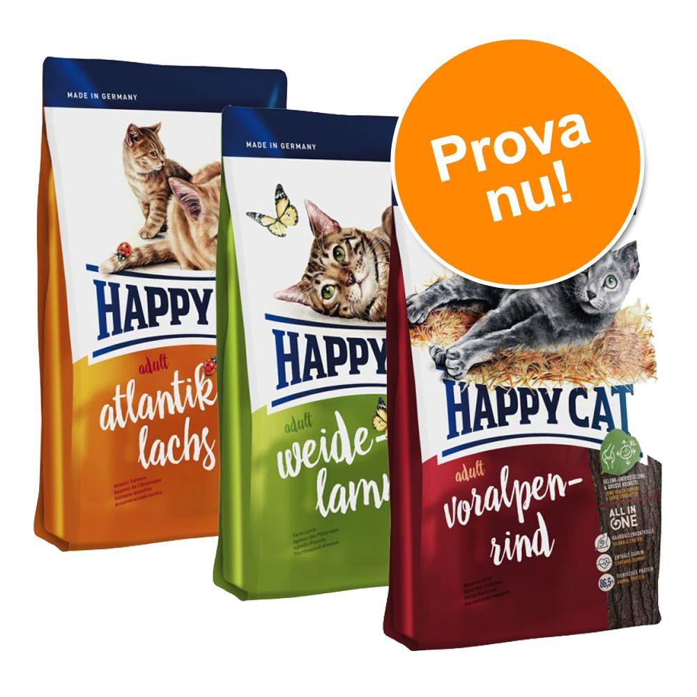 Blandpack: Happy Cat Adult - 3 x 1,4 kg