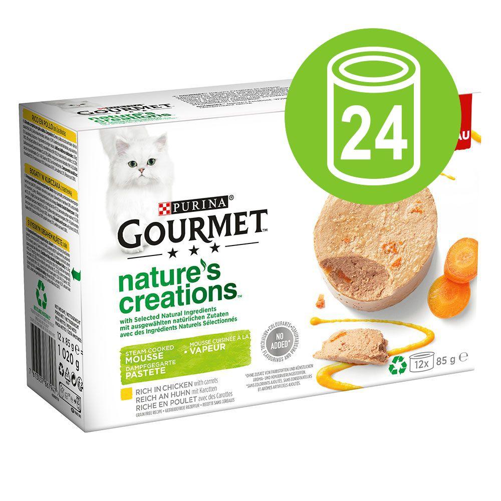 Purina Gourmet Nature's Creation Mousse 24 x 85 g - Pack económico - Salmão e feijão verde