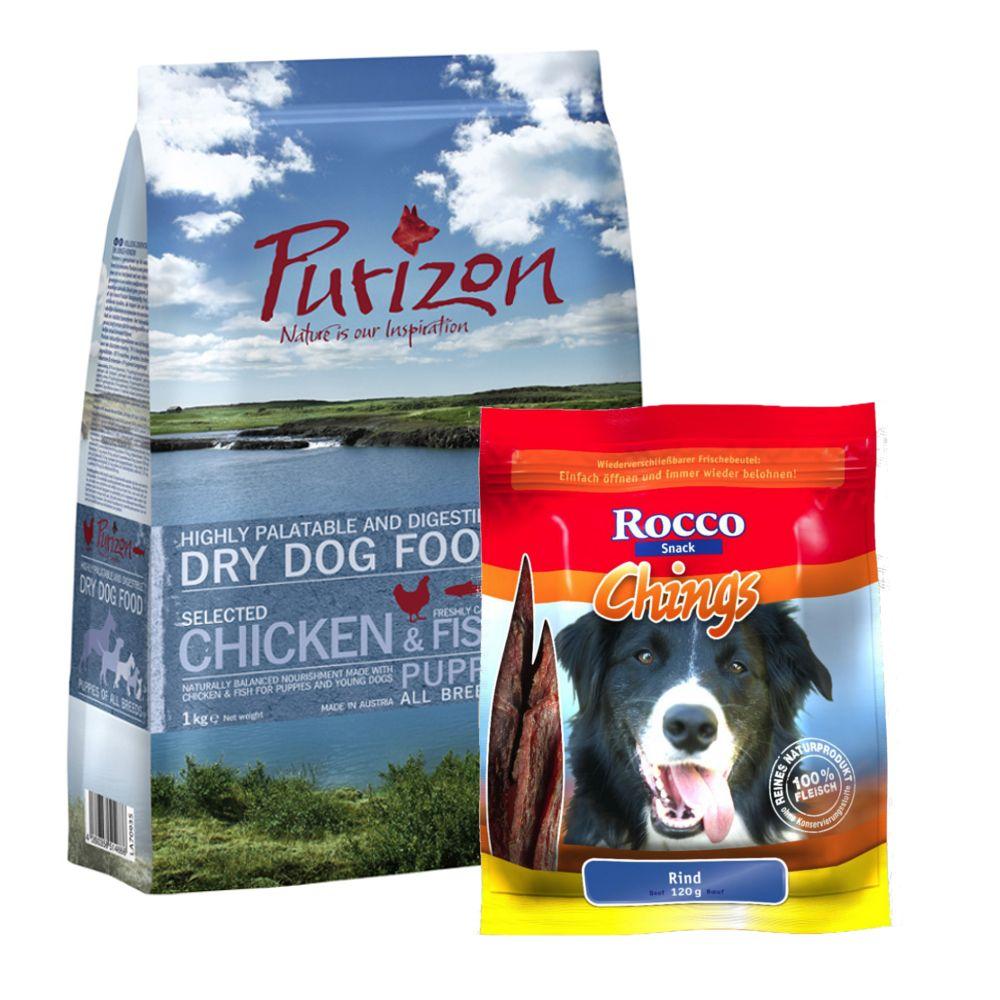 Purizon Puppy 1 kg mit Rocco Chings Rind 120 g ...