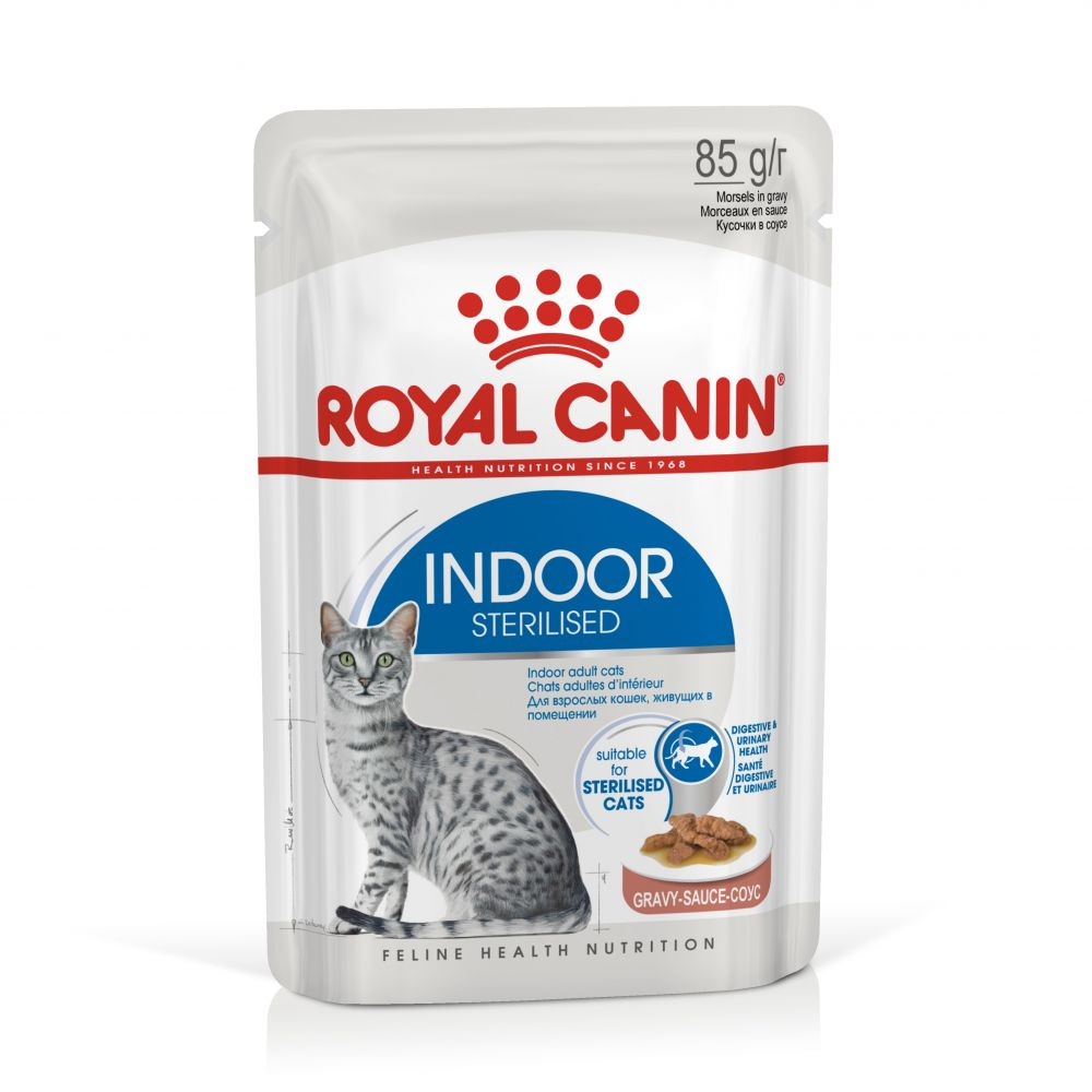 Royal Canin Indoor Sterilised i sås - 24 x 85 g