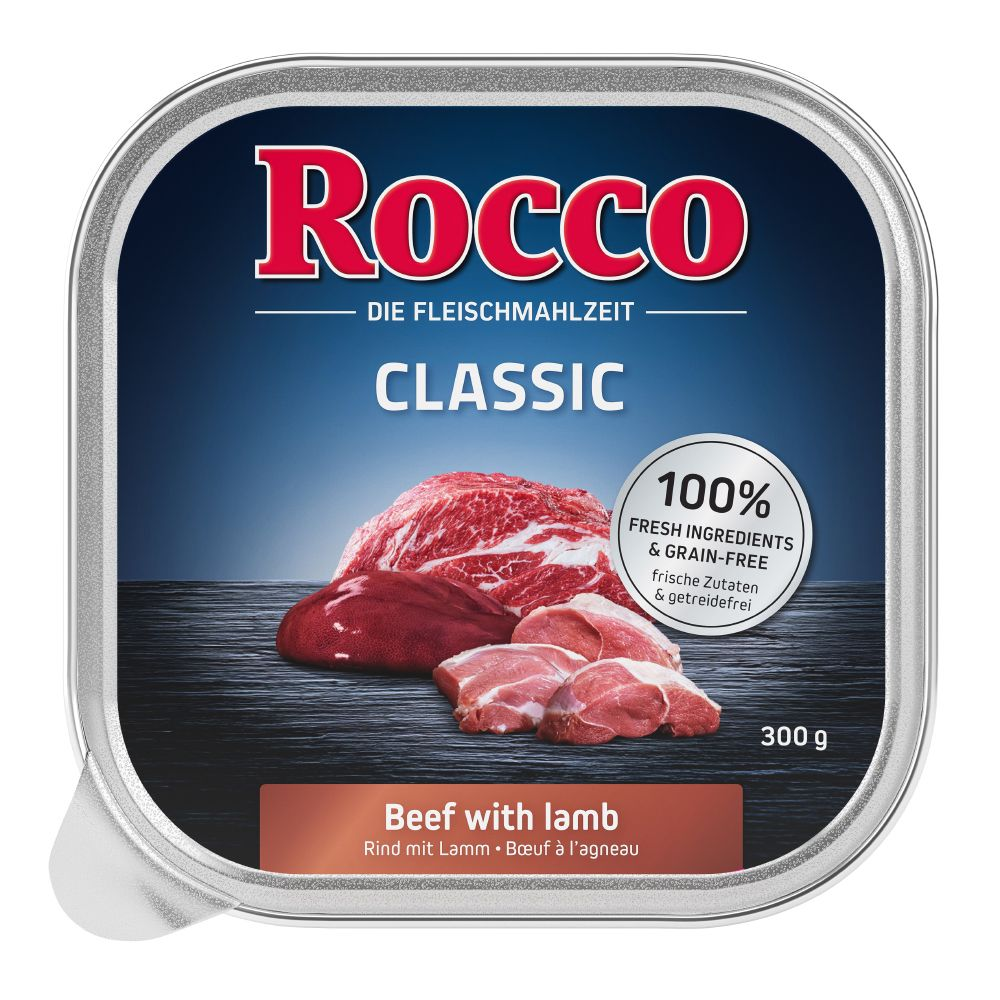9 x 300g Rocco Classic Mix 2 Wet Dog Food - 7 + 2 Free!* - Classic Mix 2: Lamb, Chicken, Game