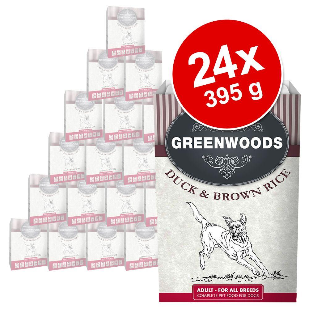 Foto Greenwoods Adult 24 x 395 g - Anatra & Riso integrale Set Risparmio