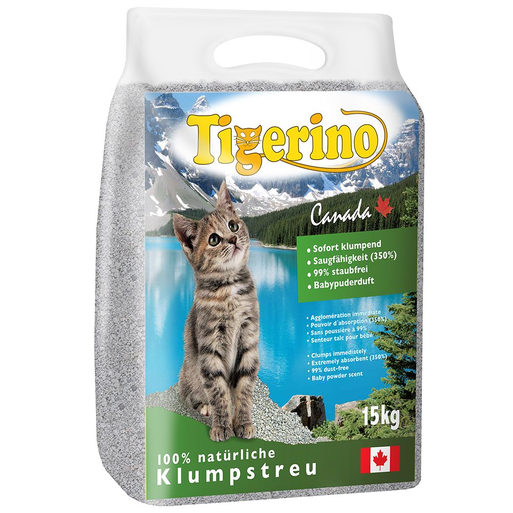 Foto Lettiera Tigerino Canada - al borotalco - 2 x 15 kg - prezzo top!