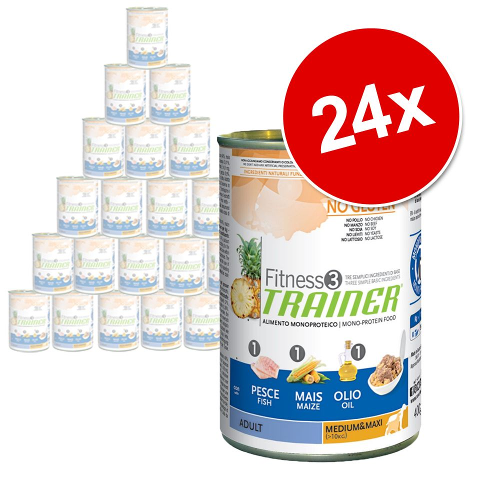 Foto Trainer Fitness 3 Adult 24 x 400 g - Medium/Maxi No Grain Coniglio&Patate Set Risparmio
