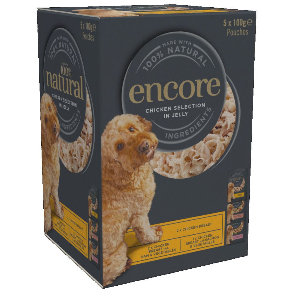 Encore Dog Deluxe Collection Pouches Multipack in Jelly Wet Dog Food