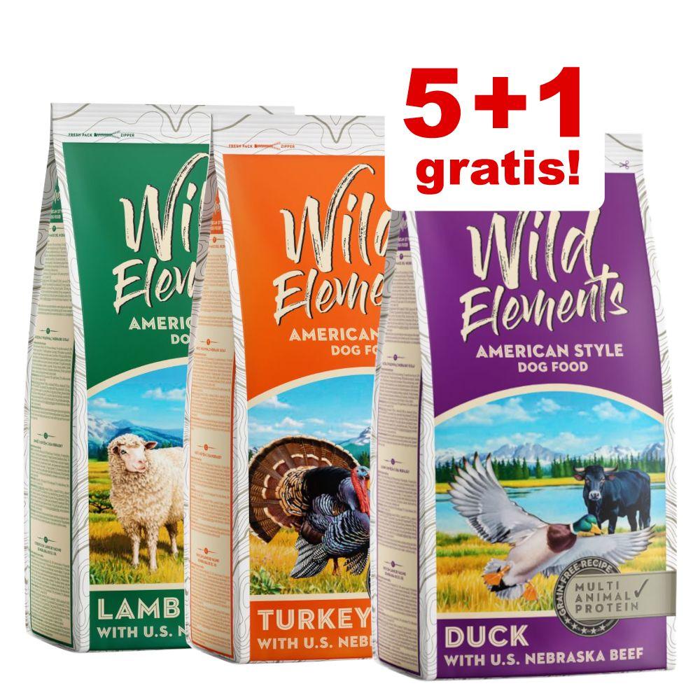 5 + 1 på köpet! 6 x 1 kg Wild Elements torrfoder - Turkey