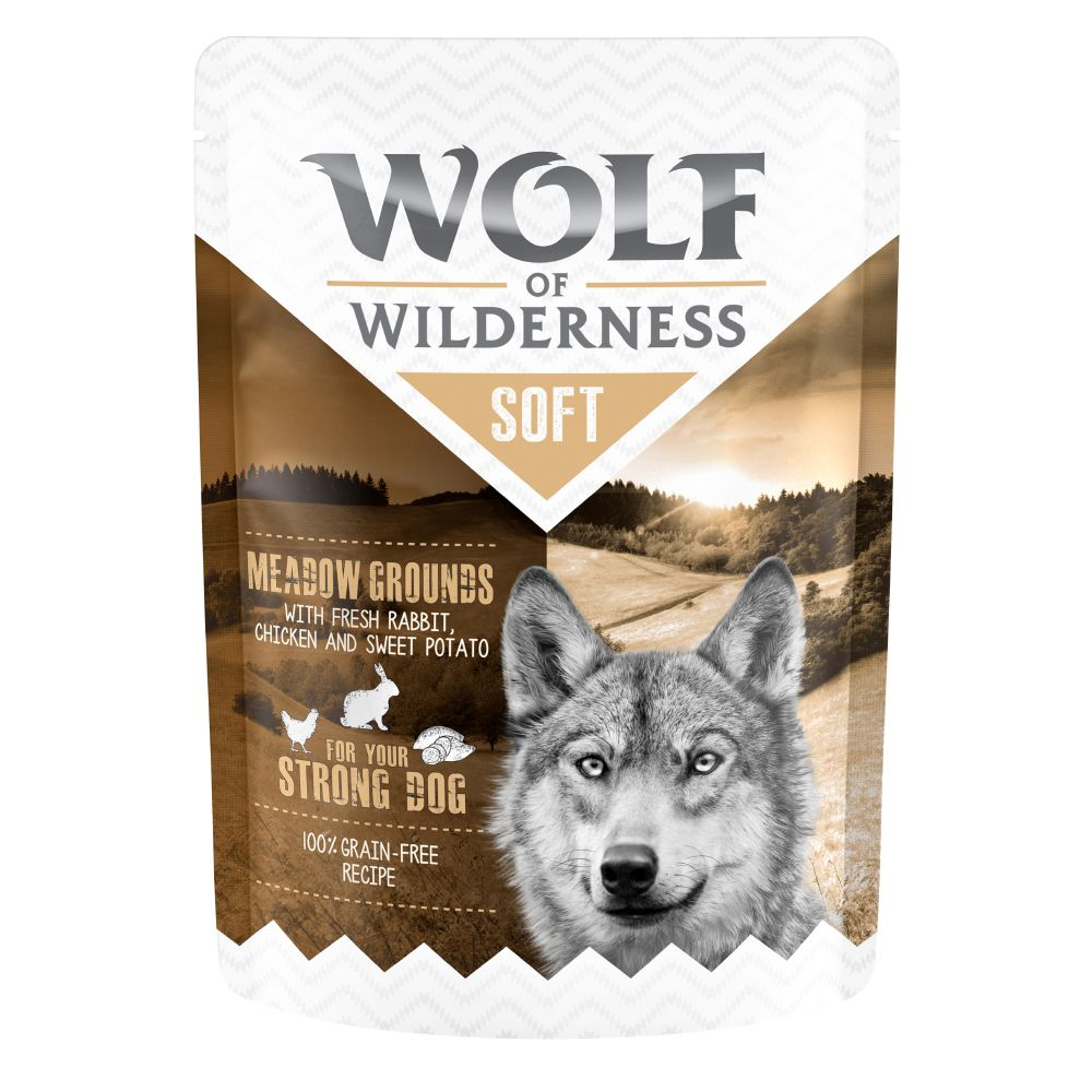 6x300g Mixed Pack 4 Varieties Pouches Wolf of Wilderness Wet Dog Food