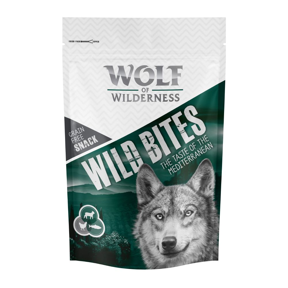 lamb & chicken Wild Bites Taste of the Mediterranean Wolf of Wilderness dog snacks