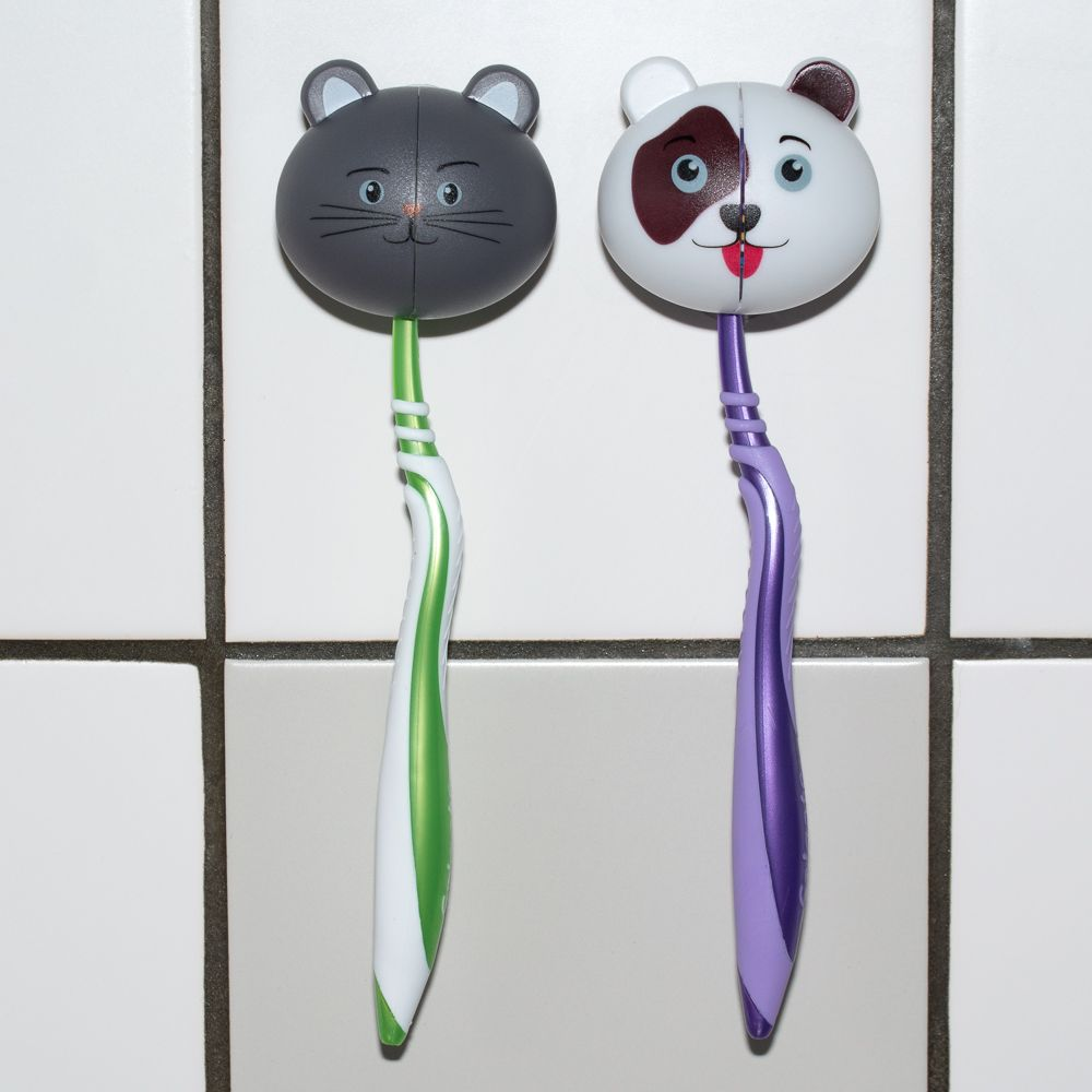 zooplus Zahnbürstenhalter - 2 x Katze
