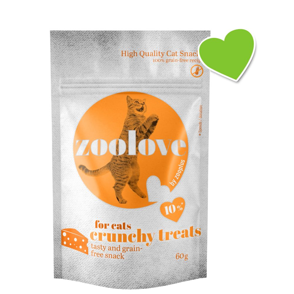 zoolove crunchy treats med ost - 60 g