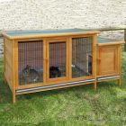 This rabbit hutch with extra-large floor surface is ideal for keeping animals that prefer not to climb ramps. This makes the hutch a great option for keeping mothe...