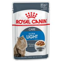 24 x 85 g Royal Canin Ultra Light in Saus Kattenvoer