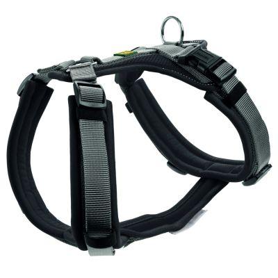 HUNTER Maldon -koiranvaljaat, musta/harmaa - rinnanympärys 53 - 71 cm, L 25 mm