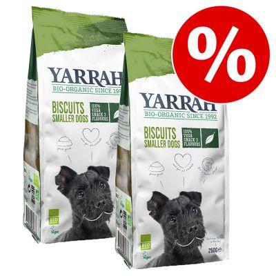 2 x Yarrah Bio -herkut erikoishintaan! - 2 x 250 g Multi Dog Biscuits -kasviskeksit