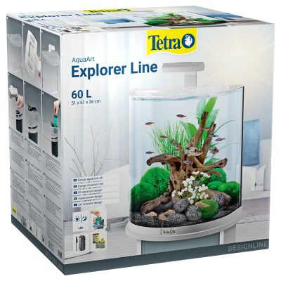 Tetra AquaArt Explorer Line - valkoinen, 60 L
