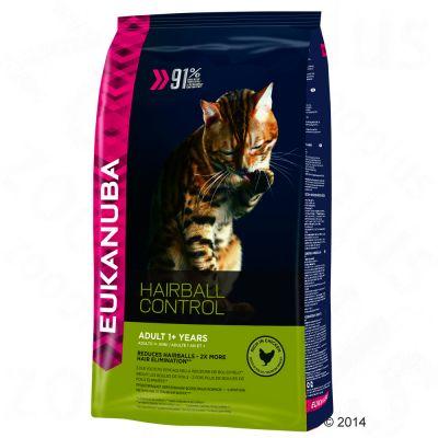 Eukanuba Hairball Control Adult - säästöpakkaus: 2 x 4 kg