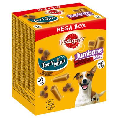 Pedigree Mega Box - Pedigree-herkkupalat & Jumbone Mini 740 g