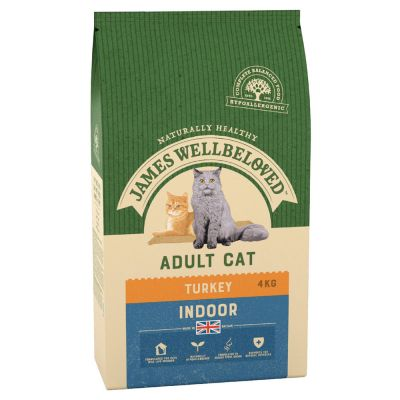 James Wellbeloved Adult Cat Indoor Turkey - 2 x 4 kg