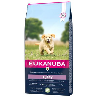 Eukanuba Puppy Large & Giant Breed Lamb & Rice - säästöpakkaus: 2 x 12 kg