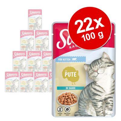 Schmusy Ragout Kitten in Sauce 22 x 100 g - kalkkuna
