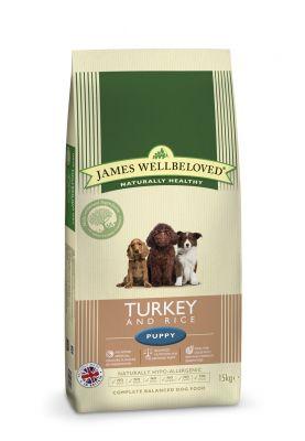 James Wellbeloved Puppy Turkey & Rice -Ekonomipack: 2 x 15 kg