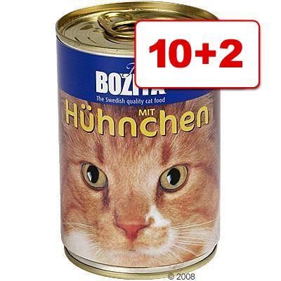 12 x 410 g Bozita-märkäruokaa: 10 + 2 kaupan päälle! - lohi