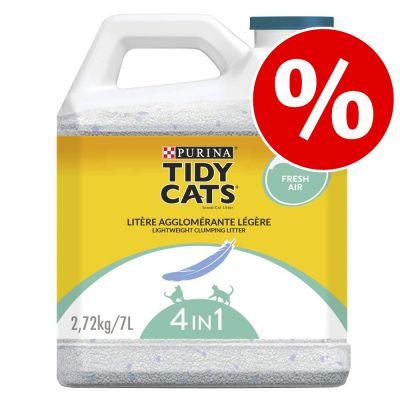 Purina Tidy Cats Lightweight -kissanhiekka -50 % alennuksella! - Ocean Freshness paakkuuntuva kissanhiekka 7 l