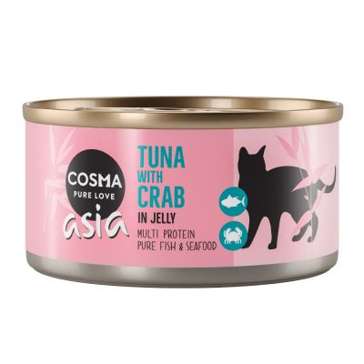 Cosma Thai/ Asia hyytelössä 6 x 170 g - kana & tonnikala