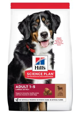Hill's Adult 1-5 Large Science Plan con cordero y arroz - 2 x 14 kg - Pack Ahorro